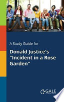 A Study Guide for Donald Justice's