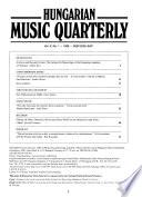 Hungarian Music Quarterly