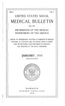 United States Naval Medical Bulletin V 4 1910