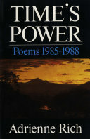 Time s Power  Poems 1985 1988