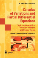 Calculus of Variations and Partial Differential Equations
