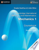 Books - Cambridge International Advanced Level Mathematics Mechanics 1 | ISBN 9781316600306