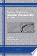 Residual Stresses 2018