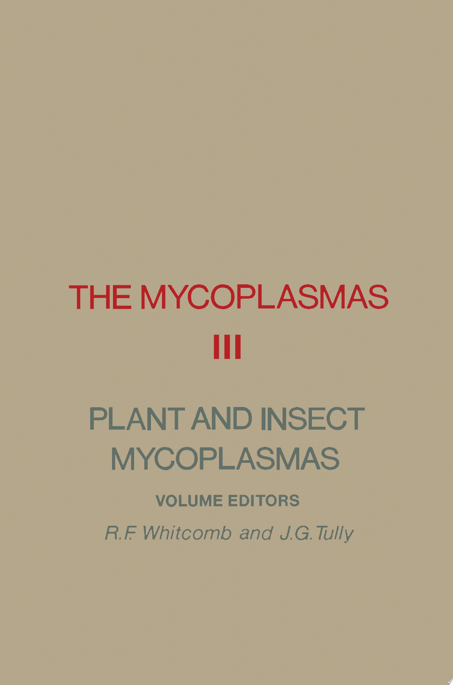 The Mycoplasmas V3