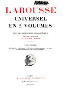 Larousse universel en 2 volumes