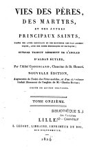 Vies des Pères, des martyrs et des autres principaux saints