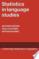 Statistics in Language Studies