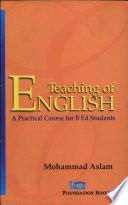 Teaching Of English Book