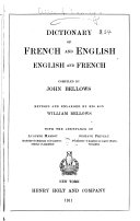 Dictionary of French and English  English and French