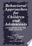 Behavioral Approaches For Children And Adolescents