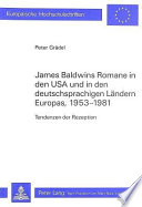 James Baldwins Romane in den USA und in den deutschsprachigen Ländern Europas, 1953-1981