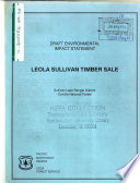 Colville National Forest (N.F.), Leola Sullivan Timber Sale, Pend Oreille County
