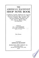 The American Machinist Shop Note Book