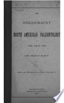Bibliography of North American Paleontology in the Year 1886 Book
