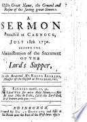 God s great Name  the ground     of his saving great sinners  A sermon  on Ps  xvi  3  preached     July 18th  1730  etc