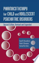 Pharmacotherapy For Child And Adolescent Psychiatric Disorders PDF