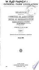 General Farm Legislation