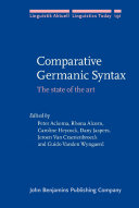 Comparative Germanic Syntax: The state of the art