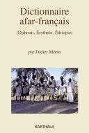 Pdf Dictionnaire afar-français (Djibouti, Erythrée, Ethiopie) Telecharger