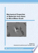Mechanical Properties Of Materials From Nano To Micro Meso Scale Book PDF