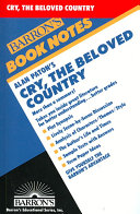 Alan Paton s Cry  the Beloved Country