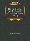 The Civilisation of the Period of the Renaissance in Italy Pdf/ePub eBook