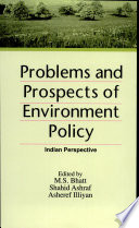 Problems and Prospects of Environment Policy