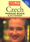 Berlitz Czech Phrase Book   Dictionary