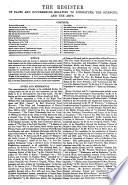 Crosthwaite s Register of facts and occurrences relating to literature  the sciences    the arts