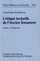 Critique textuelle de l'Ancien Testament ebook