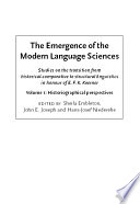 The Emergence of the Modern Language Sciences