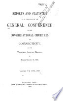 Minutes of the General Conference of the Congregational Churches of Connecticut at the     Annual Meeting