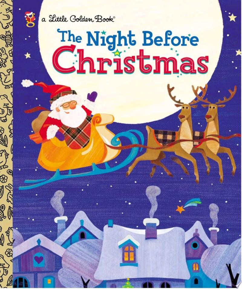 The Night Before Christmas banner backdrop