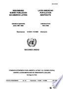 DOCPAL Resúmenes sobre población en América Latina