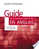 Guide de la communication écrite en anglais