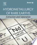 Hydrometallurgy of Rare Earths