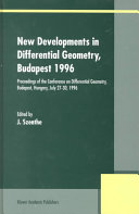 New Developments in Differential Geometry  Budapest 1996