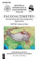 Paleoaltimetry Book