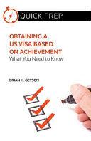 Obtaining a Us Visa Based on Achievement