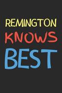 Remington Knows Best Book