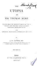 The Utopia of Sir Thomas More