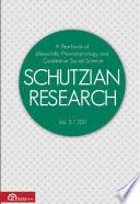 Schutzian Research vol  3   2011