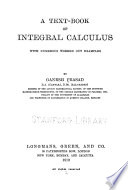 A Text-book of Integral Calculus