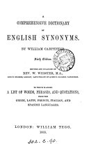 A comprehensive dictionary of English synonymes ebook