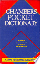 """Chambers Pocket Dictionary"" by Elaine Higgleton"