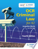 Ocr Criminal Law For A2 Fourth Edition
