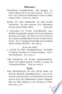 Notes on the geometry of the plane triangle