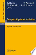 Complex Algebraic Varieties