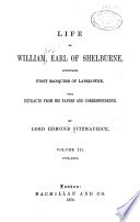 Life of William, Earl of Shelburne, Afterwards First Marguess of Lansdowne: 1776-1805