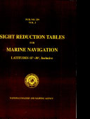 Pub229, Sight Reduction Tables for Marine Navigation